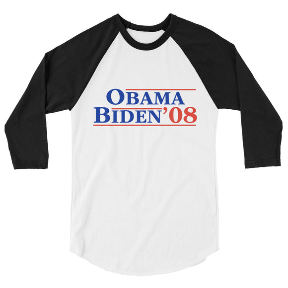 Obama Biden 3/4 sleeve shirt