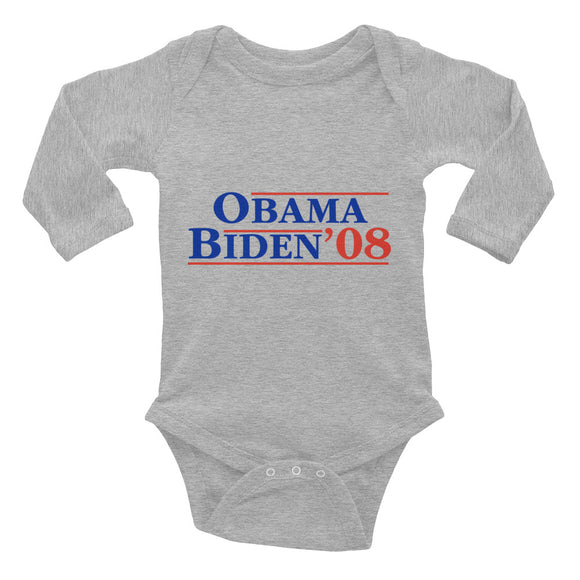 Obama Biden Infant Long Sleeve Bodysuit