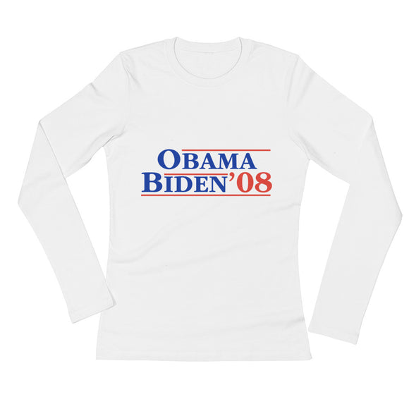 Womens' Long Sleeve Obama Biden T-Shirt