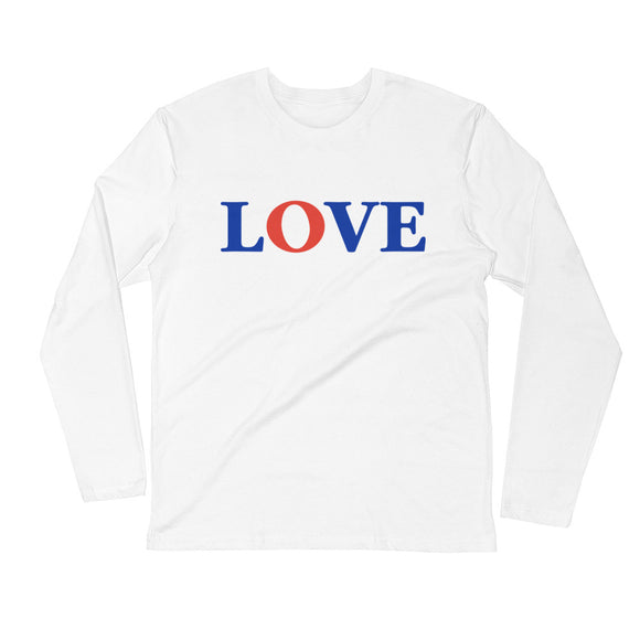 Long Sleeve Fitted Crew Love t-shirt