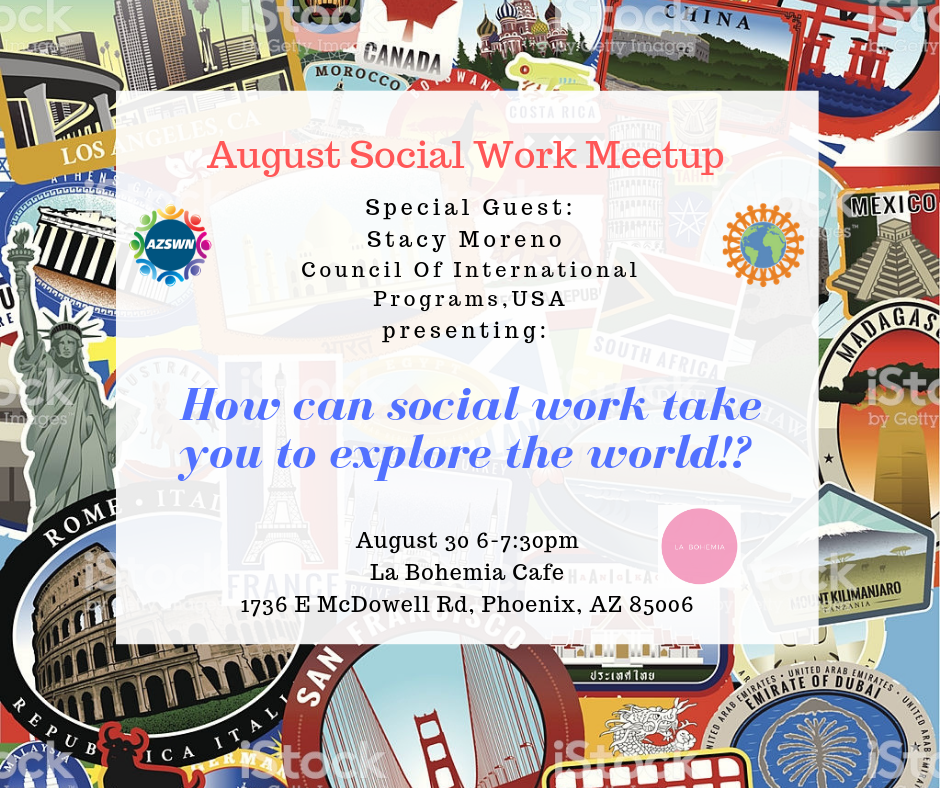 8/30 August Meetup /Global Social Work Chat