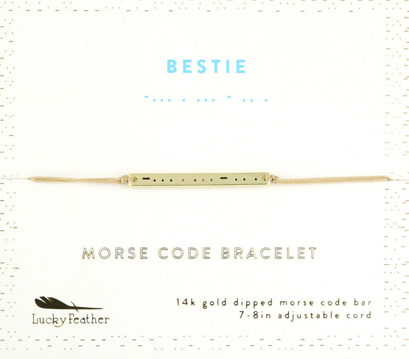 Lucky Feather- Bestie Morse Code