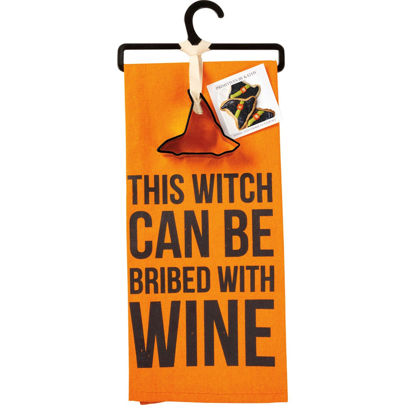 Witch Towel and Cookie Cutter