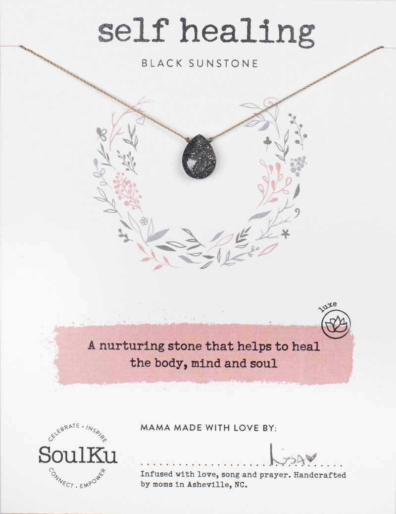 BLACK SUNSTONE LUXE NECKLACE FOR SELF HEALING