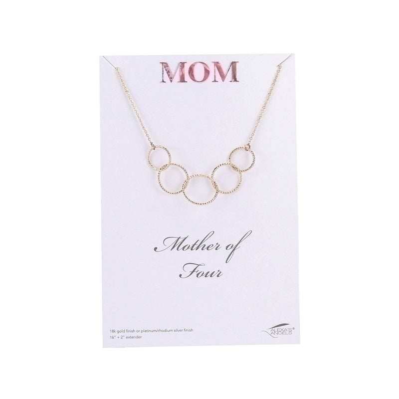 Mother of 1,2,3,4 Necklace