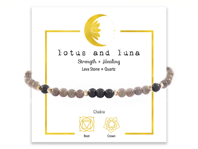 Lotus and Luna Healing Bracelets