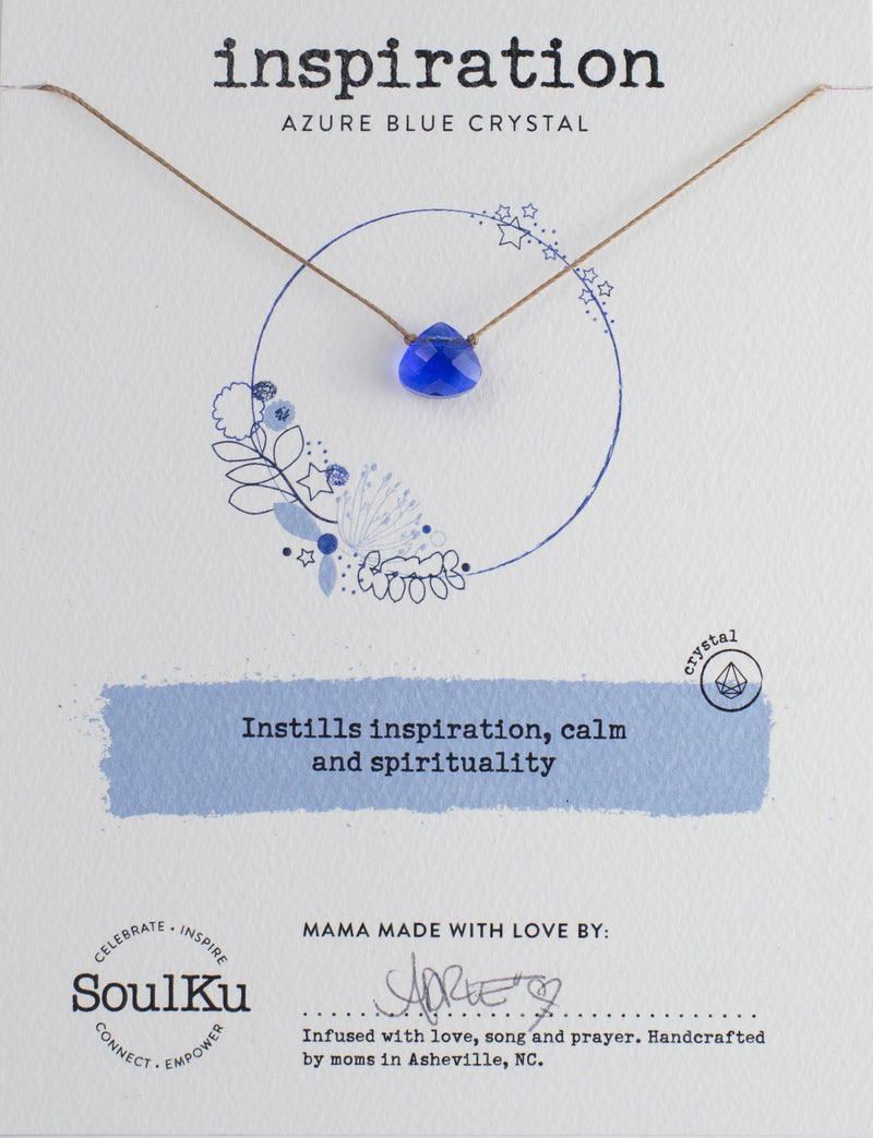 AZURE BLUE CRYSTAL SOUL SHINE NECKLACE FOR INSPIRATION