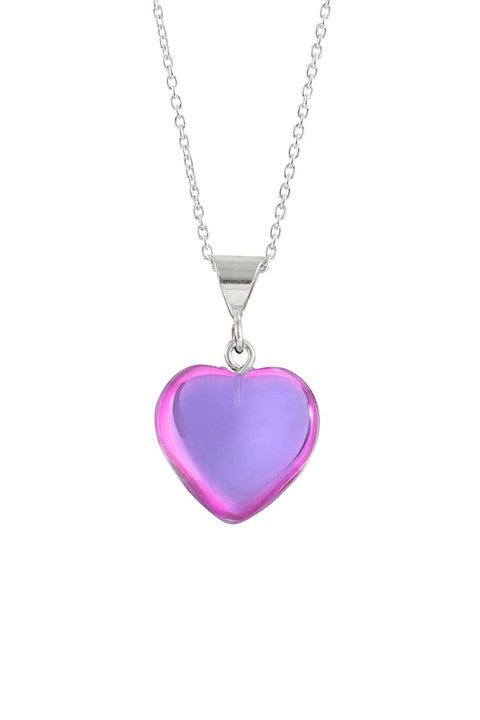 LeightWorks Pink Heart Necklace