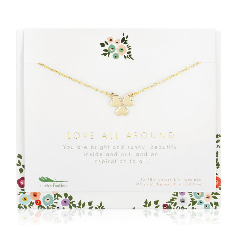 Love All Around - Necklace and Card