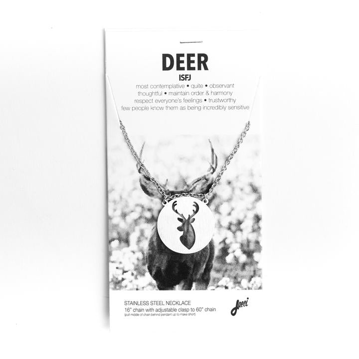 Spirit Animal Necklace- Deer