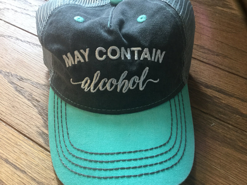 Hat- May Contain Alcohol