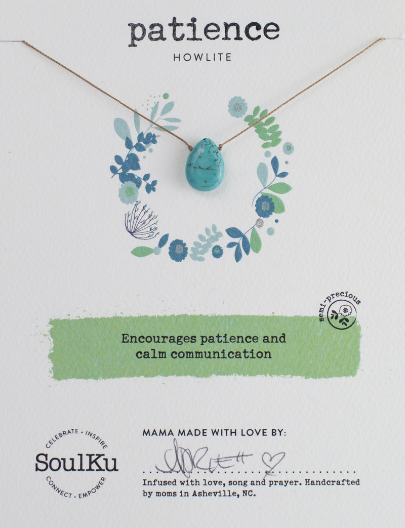 HOWLITE SOUL-FULL OF LIGHT NECKLACE FOR PATIENCE