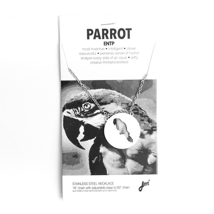 Spirit Animal Necklace- Parrot