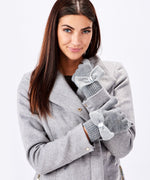 Gloves Gray Texting Gloves with Bling