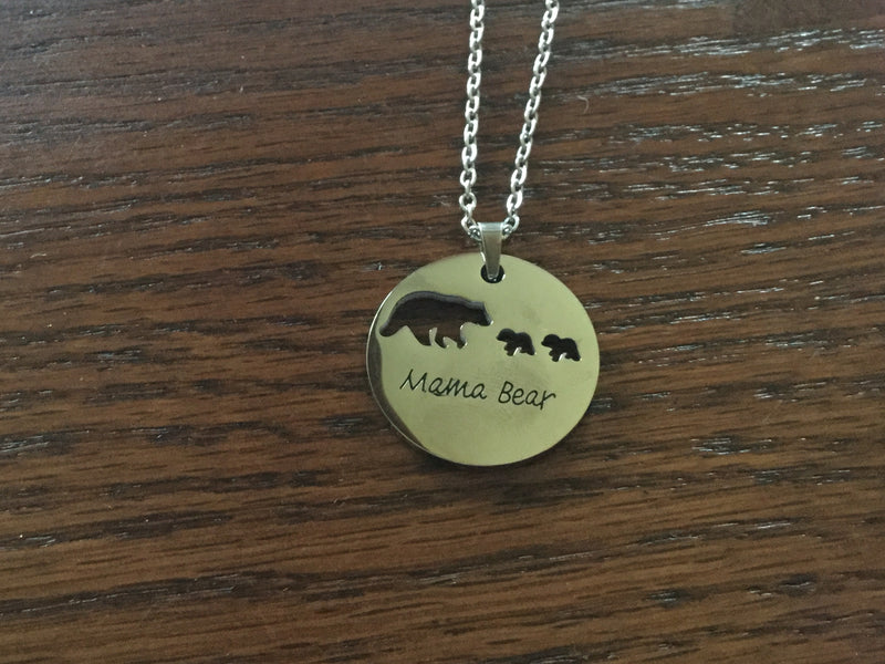 Mama Bear of two necklace
