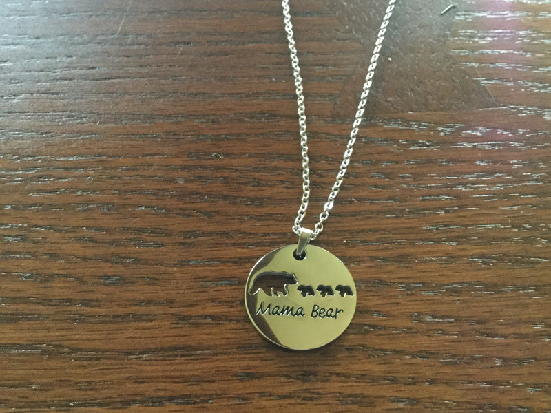 Mama Bear of 3 Necklace