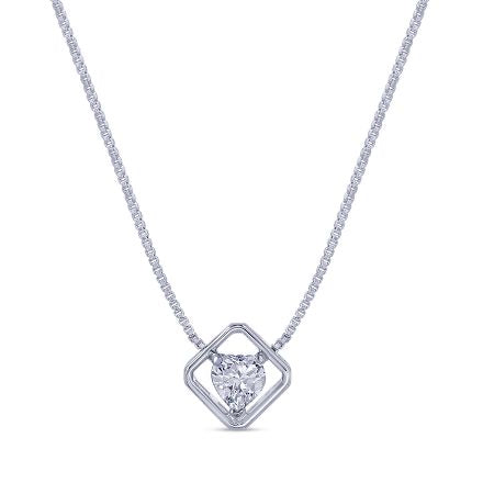 Sweet Heart Shape Crystal Necklace