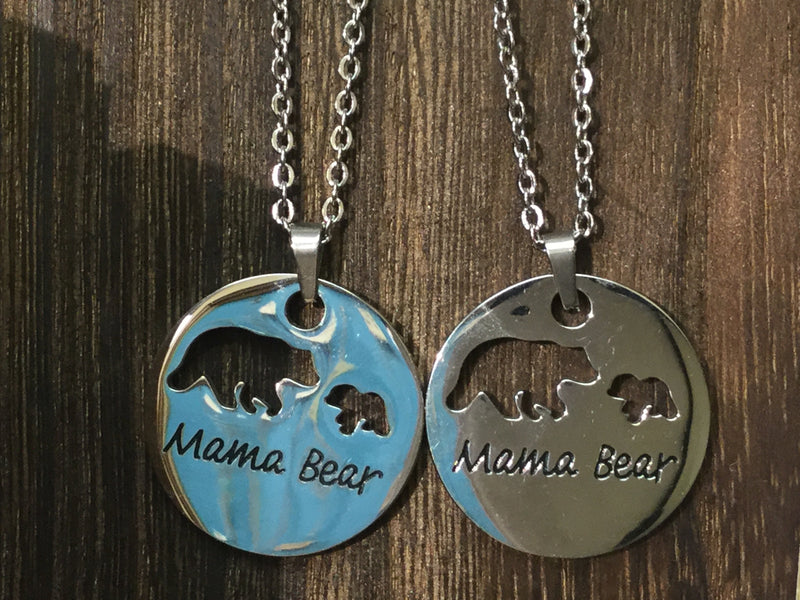 Mama Bear of one necklace