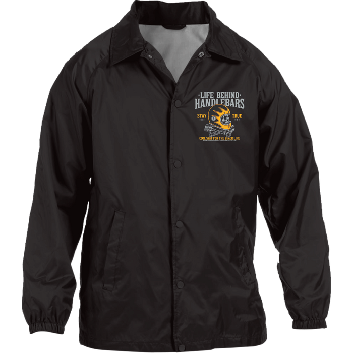 Water Resistant Embroidary Windbreaker Jacket