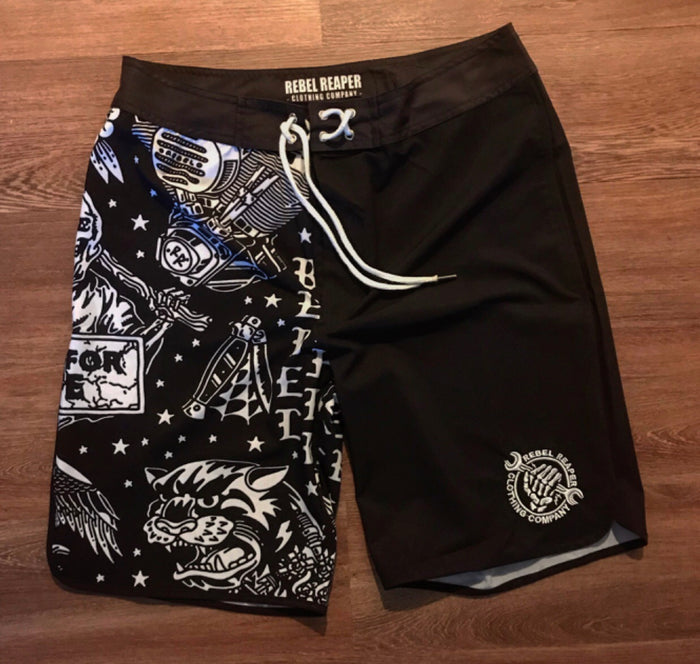 Rebel Reaper boardshorts