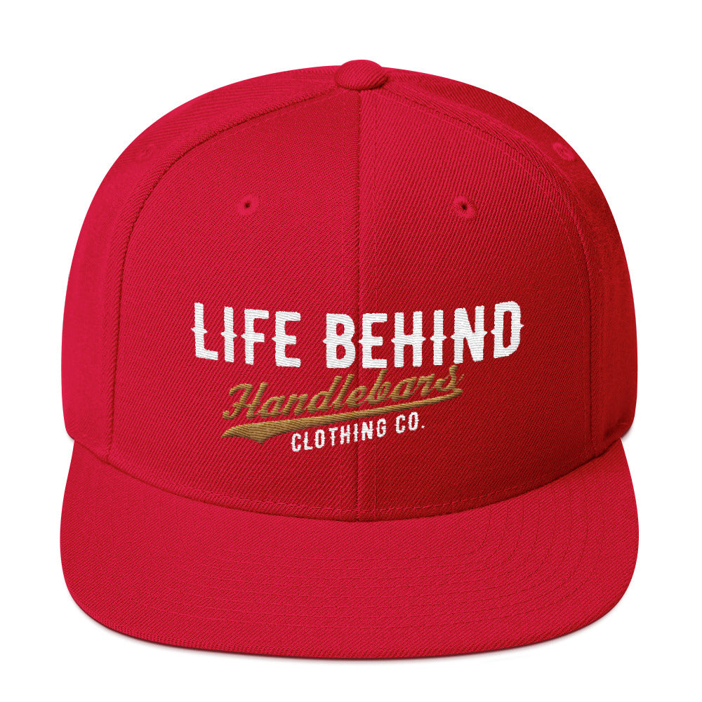 Life Behind Handlebars Snapback Hat multiple color options