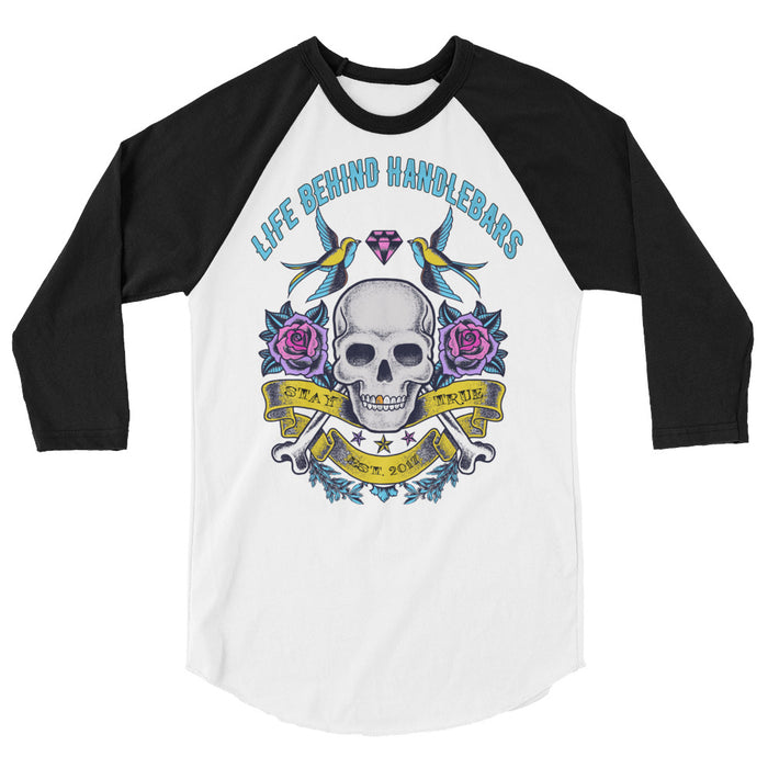 LBH Tattoo Style Ladies 3/4 sleeve raglan shirt