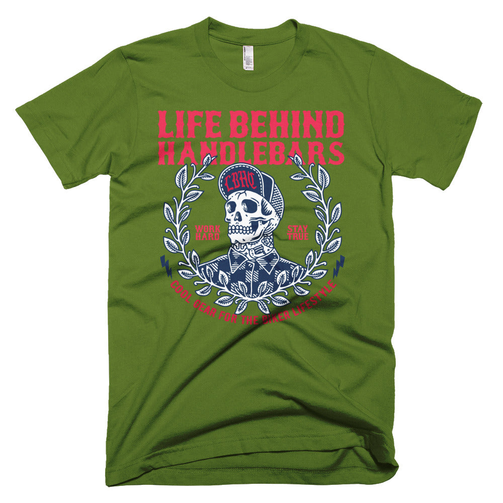 Cool Shit For The Biker Life Printed Short-Sleeve T-Shirt