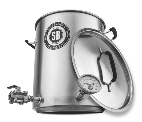 Spike Brewing 10 Gallon Brew Kettle V3 - horizontal couplers - East Coast Hoppers
