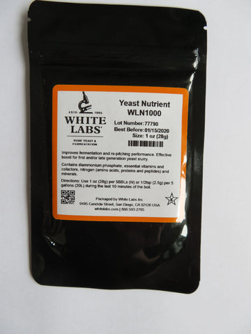 White Labs Yeast Nutrient WLN1000 (1oz; 28g)