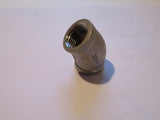 Stainless Steel 45° Elbow - Female 1/2 inch NPT