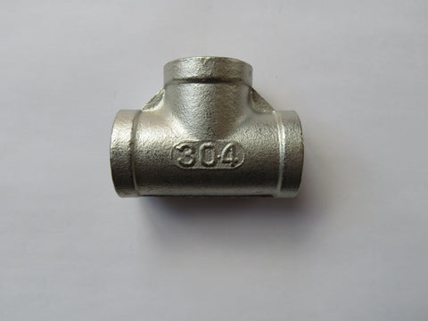 Stainless Steel Tee - Female 1/2 inch NPT