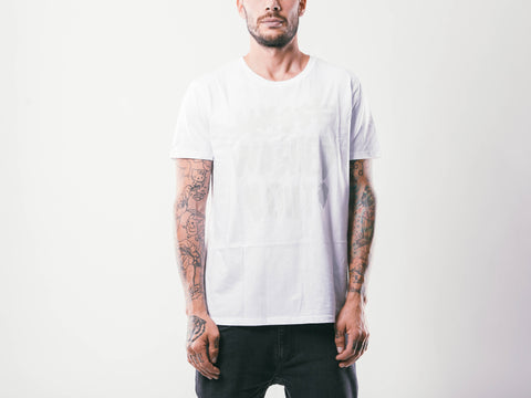 Washed Out M's Tee | White