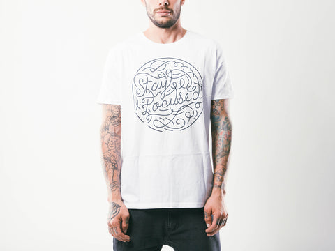 Stay Focused M's Tee | White