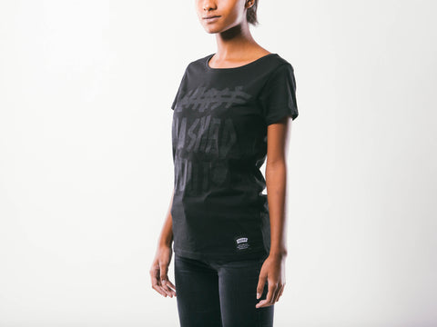 Washed Out W's Tee | Black
