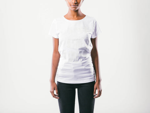 Washed Out W's Tee | White