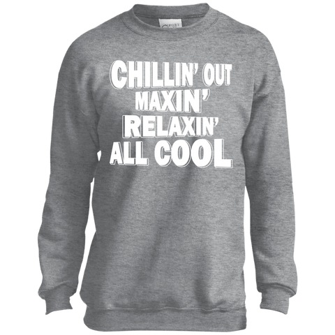 Image of Sweatshirts - Chillin' Out Maxin' Youth Crewneck Sweatshirt