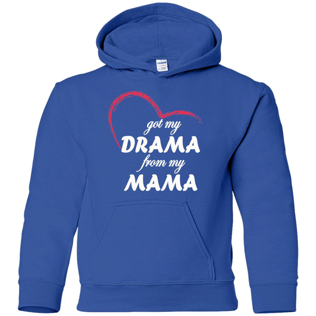 Sweatshirts - Drama From My Mama Youth Pullover Hoodie