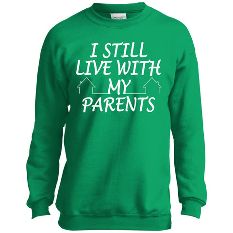 Image of Sweatshirts - I Still Live With My Parents Youth Crewneck Sweatshirt