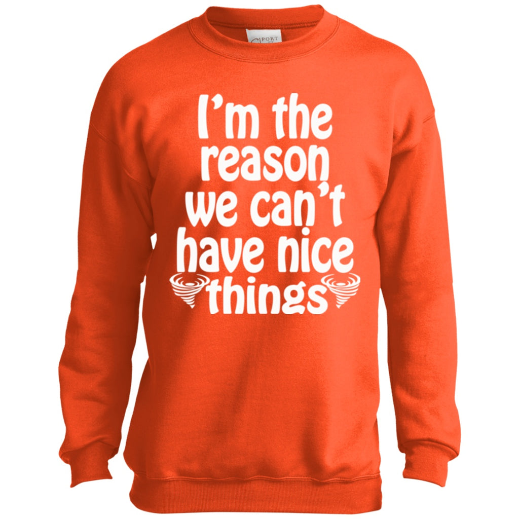 Sweatshirts - Nice Things Youth Crewneck Sweatshirt