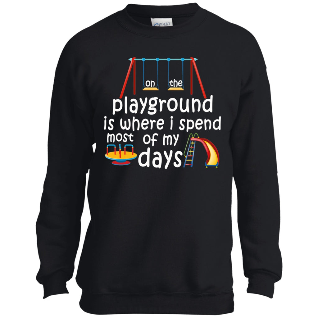 Sweatshirts - On The Playground Youth Crewneck Sweatshirt