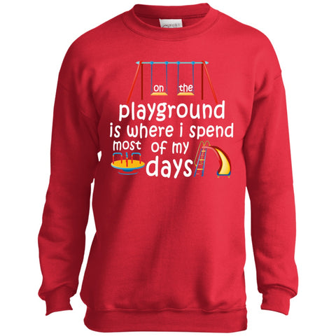 Image of Sweatshirts - On The Playground Youth Crewneck Sweatshirt
