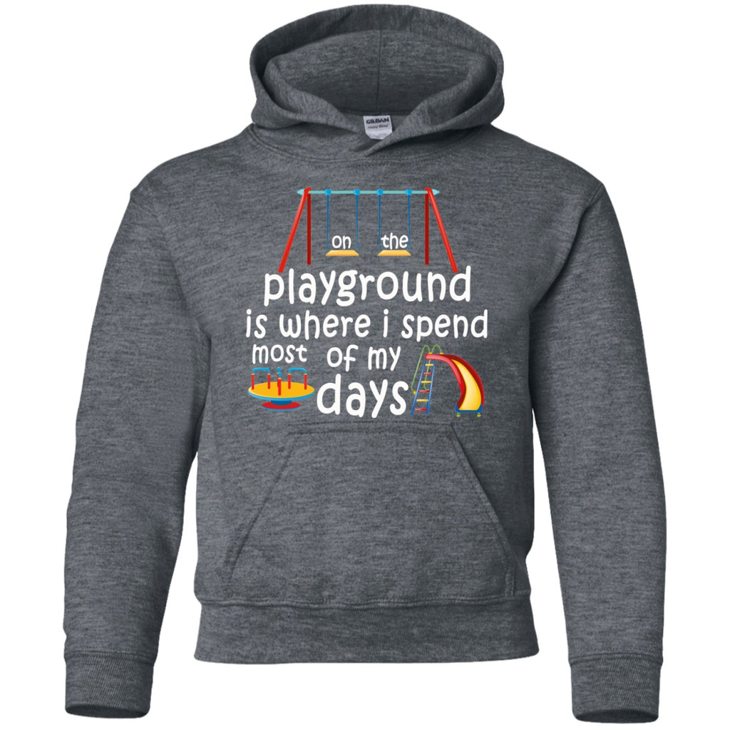 Sweatshirts - On The Playground Youth Pullover Hoodie