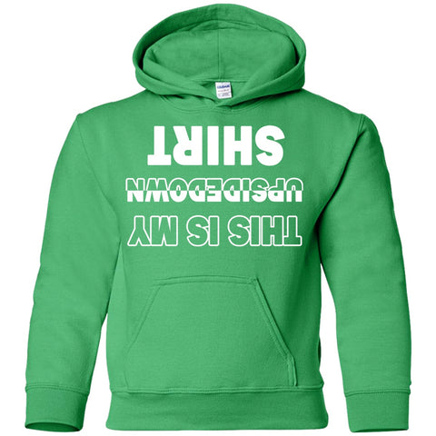 Image of Sweatshirts - Upside Down Shirt Youth Pullover Hoodie