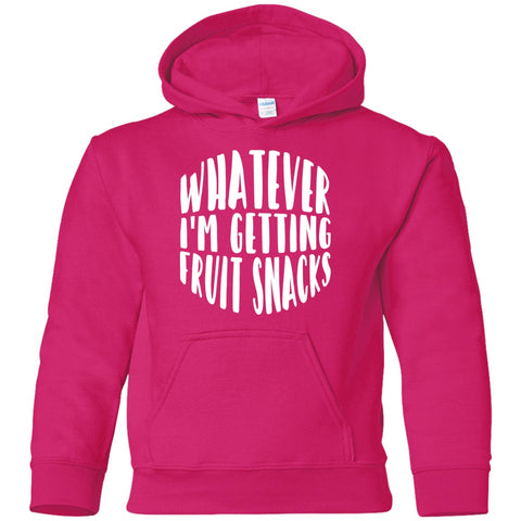 Image of Sweatshirts - Whatever I'm Getting Fruit Snacks Youth Pullover Hoodie