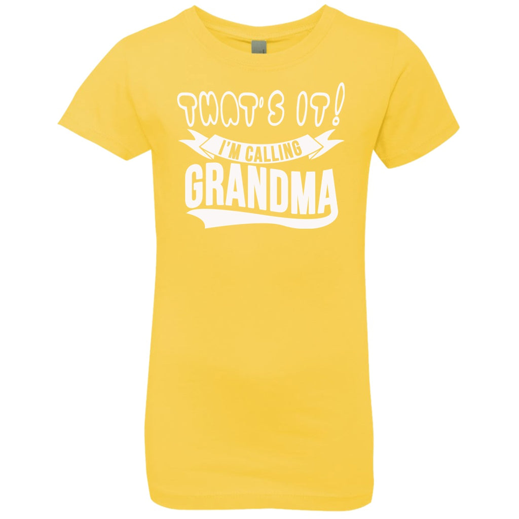 T-Shirts - Calling Grandma Girls' Princess T-Shirt