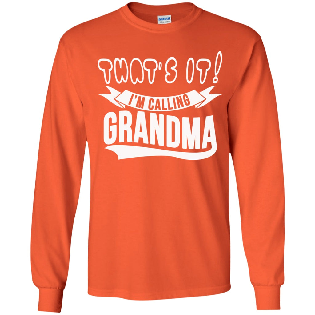 T-Shirts - Calling Grandma Youth LS T-Shirt