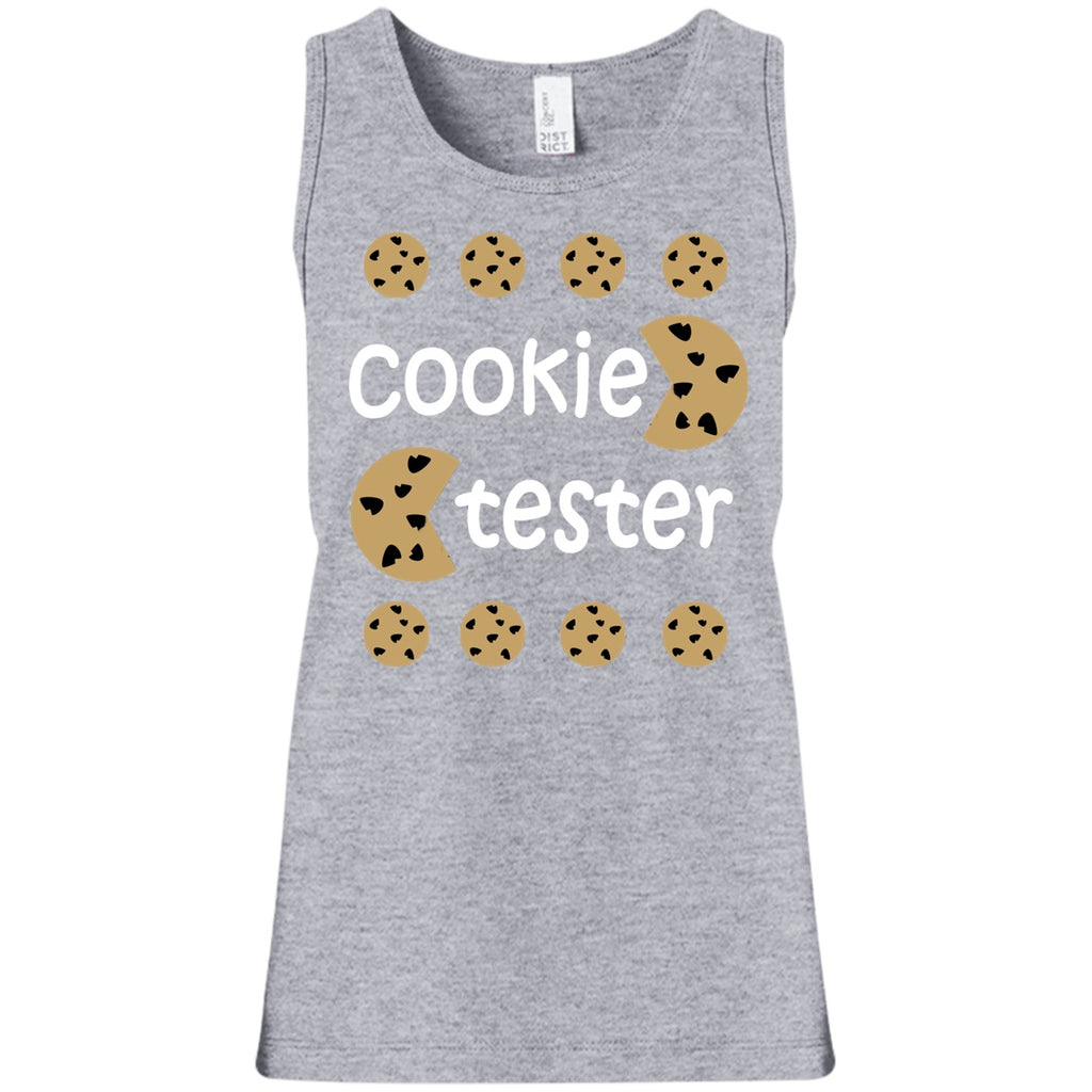 T-Shirts - Cookie Tester Girls' 100% Cotton Tank Top