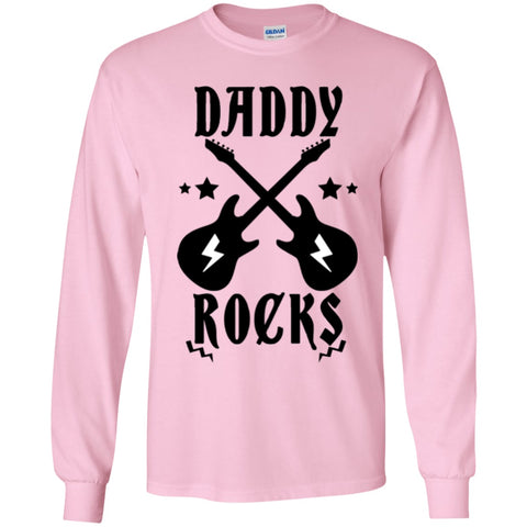 Image of T-Shirts - Daddy Rocks Youth LS T-Shirt
