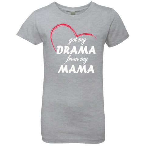 Image of T-Shirts - Drama From Mama Girls' Princess T-Shirt