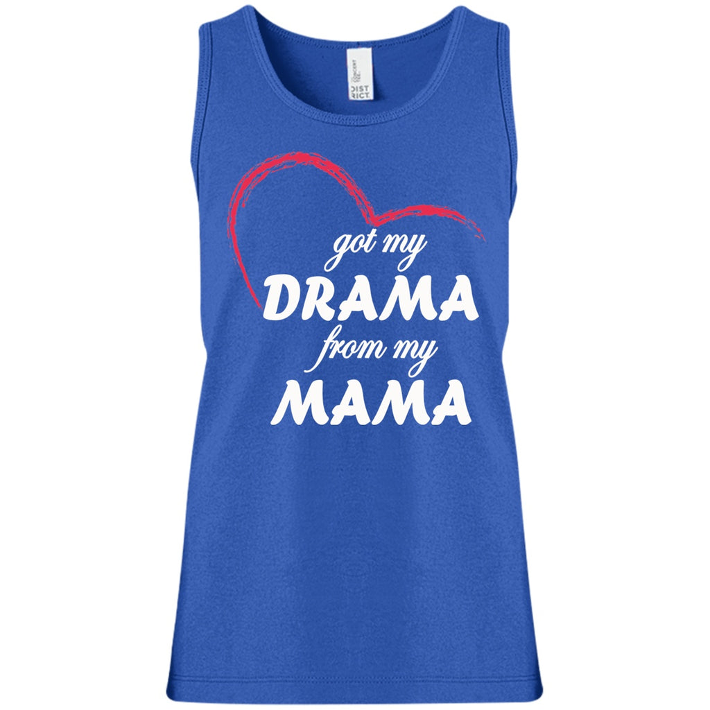 T-Shirts - Drama From My Mama Girls' 100% Cotton Tank Top